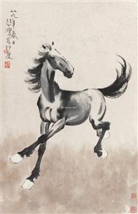马到功成 立轴 设色纸本 ( sucessful) by xu beihong