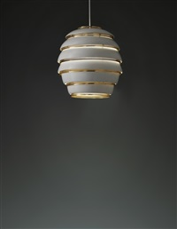 large beehive ceiling light, model no. a332 by alvar aalto