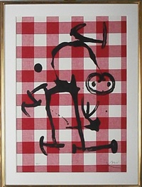 illiterate with red by joan miró