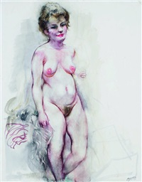 nude (appears to be the artist's wife) by george grosz
