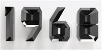 1968 (black) (in 4 parts) by doug aitken