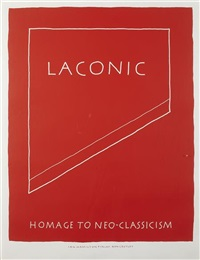 laconic - homage to neo-classicism and the medium is the message (2 works) by ian hamilton finlay