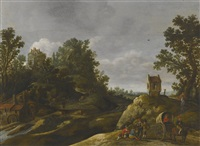 peasants resting by a watermill by jan josefsz van goyen