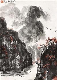 山秋图 by li xiaoke