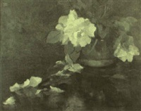peonies in a chinese jar by wilton robert lockwood