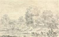 shepherds by a river by nicolaes berchem