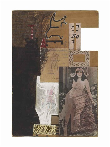 untitled moticos with silent film star by ray johnson
