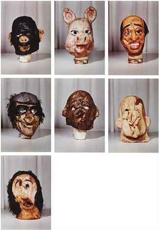 masks small from the propo series portfolio of 7 by paul mccarthy