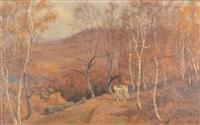 steer in a western landscape by thomas allen