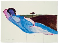 study for memories of art history #3 by fritz scholder