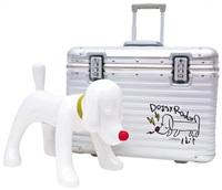 doggy radio x rimowa case 狗狗音響, rimowa行李箱 by yoshitomo nara