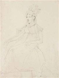 portrait de la reine caroline murat by jean-auguste-dominique ingres