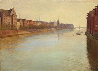 european cityscape with channel by christian asmussen