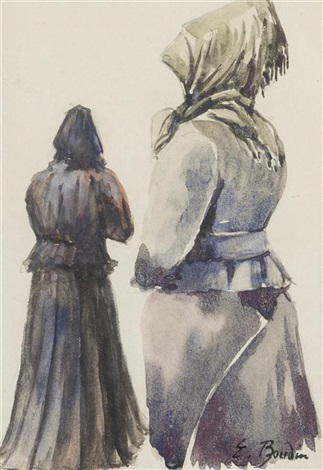 femmes en crinolines by eugène boudin