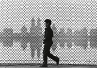 boy walking, central park reservoir by ruth orkin