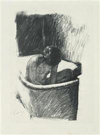 le bain (deuxième planche) by pierre bonnard