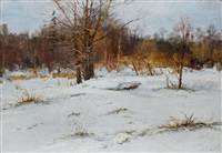 winterlandschaft by mikhail georgievich kozell