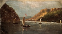 (a pair) hudson river landscapes by american school