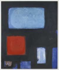 blues and dull vermilion in black : june 1960 by patrick heron