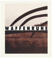 waffenruhe - ceasefire (bk w/ 39 works, folio) by michael schmidt