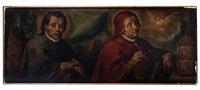 los padres de la iglesia: san agustín y san gregorio magno by baltasar de echave ibia