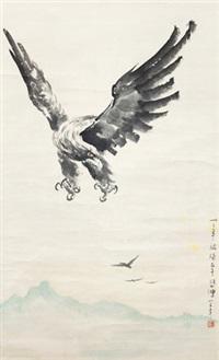 飞鹰图 立轴 纸本 by xu beihong