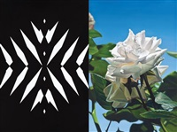 abstract rose 15 (diptych) by mustafa hulusi