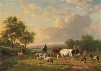 herding the cattle at dusk by willem tjarda van starkenborgh stackouwer
