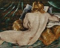 femme nue lisant by ladislas medgyes