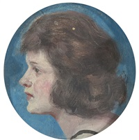 portrait of a lady by guy rose
