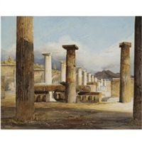 ruins of pompeii by jean-baptiste-louis hubert