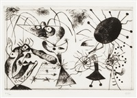 from 'serie noire et rouge' by joan miró