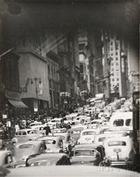 traffic in new york by t. lux feininger
