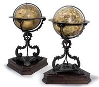 celestial and terrestrial globes by vincenzo maria coronelli