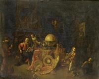 a philosopher in his studio by balthasar van den bossche