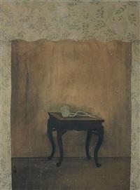 桌上莲花 (lotus on table) by xu lei