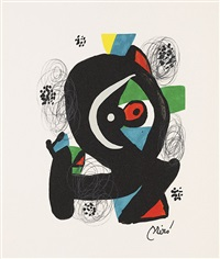 la mélodie acide (portfolio of 14 w/justif.) by joan miró