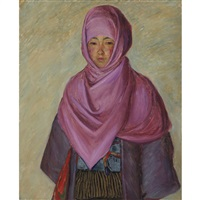 the purple shawl by lilla cabot perry