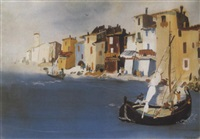 itáliai kikötö (italian harbor) by endre vadász