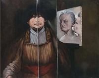 double-portrait, hommage à rembrandt et autoportrait by paul ackermann