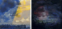 view over tompkins square park (diptych) by mark innerst