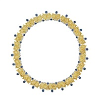 a gold and sapphire necklace by buccellati