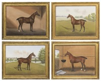 race horses (4 works) by dan w. smith