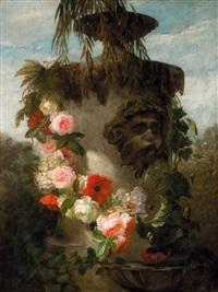 vaso ornamentale con fiori by jan frans van dael