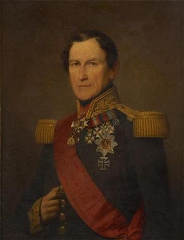 portrait de léopold 1er en tenue dapparat by nicaise de keyser
