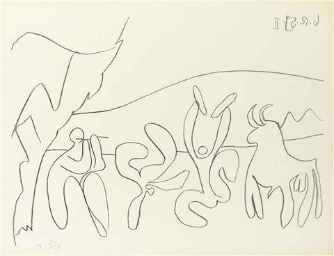 bacchanale i and ii 2 works by pablo picasso