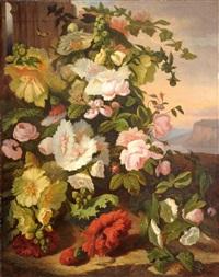 bouquet de fleurs d'été by simon saint-jean