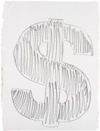dollar sign by andy warhol