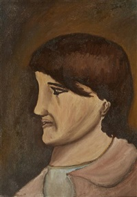 <b>Christy Brown</b> - christy-brown-profile-portrait-of-the-artists-sister,-1967