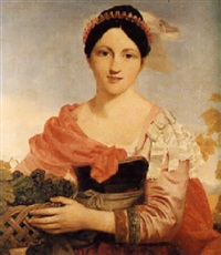 portrait of miss sturgess bourne as autumn by sir charles lock eastlake